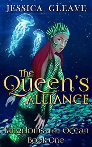 A red-headed mermaid on the cover of The Queen's Alliance by Jessica Gleave