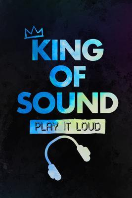 King Of Sound Play It Loud: Music Manuscript Notebook Paper 120 Pages 6x9 Paperback (Black)