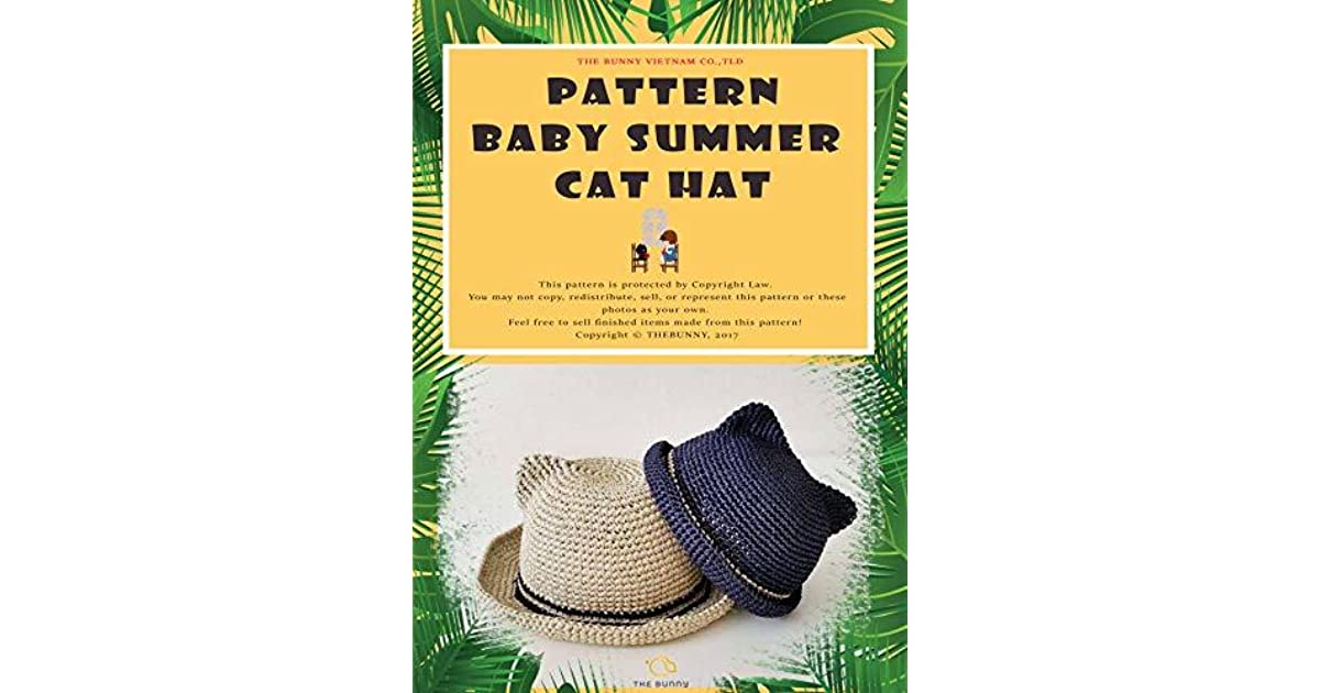 HOW TO CROCHET - BABY SUN HAT: CAT STYLE SUN HAT by The