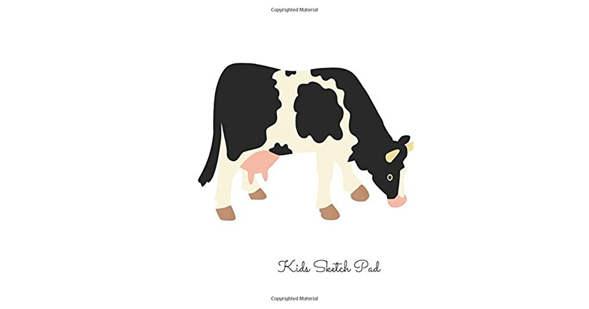Kids Sketch Pad Cow For Art Artists To Draw Designers