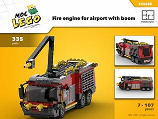 Fire engine for airport with boom (Instruction Only): MOC LEGO by