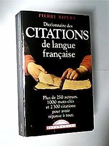 Dictionnaire des citations de la langue française