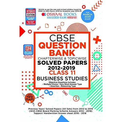 Oswaal CBSE Question Bank Class 12 Business Studies Chapterwise