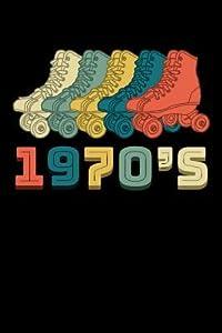 1970's: Roller Skating Journal, Roller Skate Notebook, Roller Skater Gifts, Roller Derby Girls Birthday Present