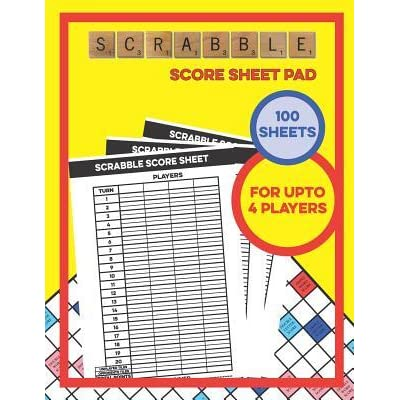 Scrabble Score Sheet Pad 100 Sheets For Upto 4 Players 100 Score Sheets 1 Player Scoreboard By Board Game Score Sheets Co