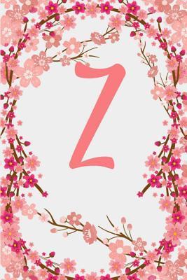 Z: Letter Z Monogram Initials Japanese Cherry Blossom