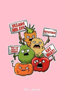 Puns Journal: Lined Journal - Veggie Protest Funny Sayings Vegetable