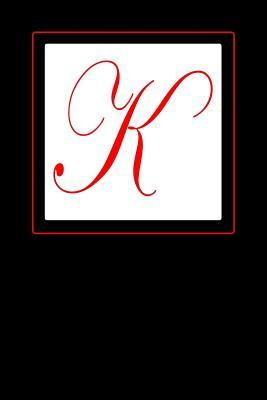 K Monogrammed Journal With A Stately Red Capital Letter K