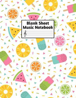 Blank Sheet Music Notebook: Easy Blank Staff Manuscript Book Large 8.5 X 11 Inches Musician Paper Wide 12 Staves Per Page for Piano, Flute, Violin, Guitar, Trumpet, Drums, Cello, Ukelele and other Musical Instruments - Code: A4 7326