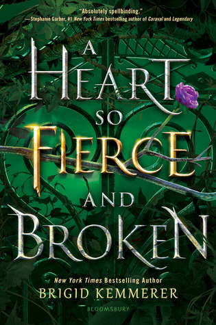 "Book cover of ""A Heart so Fierce and Broken"" by Brigid Kemmerer"