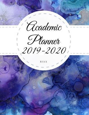 Academic Planner 2019-2020 8 5 x 11: Blue Marble Ink Monthly