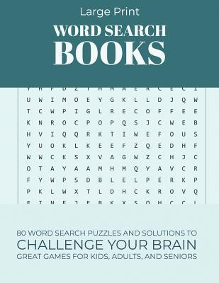 photo about Large Printable Word Search called Hefty Print Term Look Textbooks: 80 Phrase Look Puzzles and