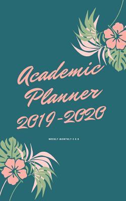 Academic Planner 2019-2020 weekly monthly 5 x 8: Peach Theme
