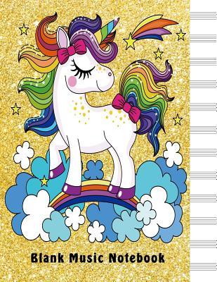 Blank Sheet Music Notebook Dream Big Unicorn Standard Manuscript Paper