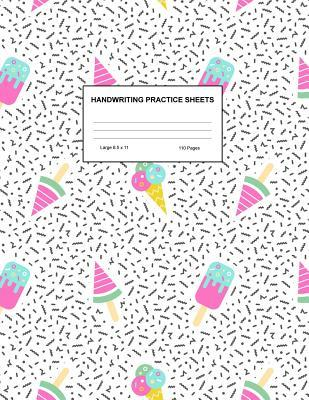 Handwriting Practice Sheets Cute Blank Lined Paper Notebook
