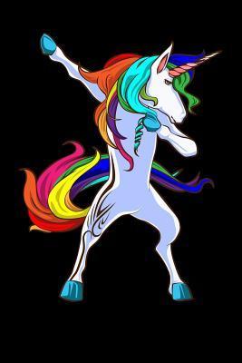 Notebook: Dabbing Pretty Unicorn Cute Pony Dab Black Lined