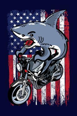 American Shark On A Motorcycle: A Cool Shark Riding a