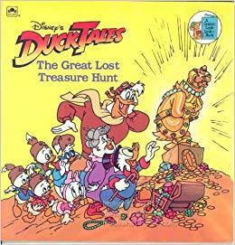 Disney's Duck Tales: The Great Lost Treasure Hunt (A Golden Look-Look Book)