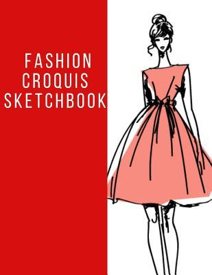Fashion Croquis Sketchbook A Cute Red Theme Professional Female Figure Body Illustration Templates Sketchpad With 400
