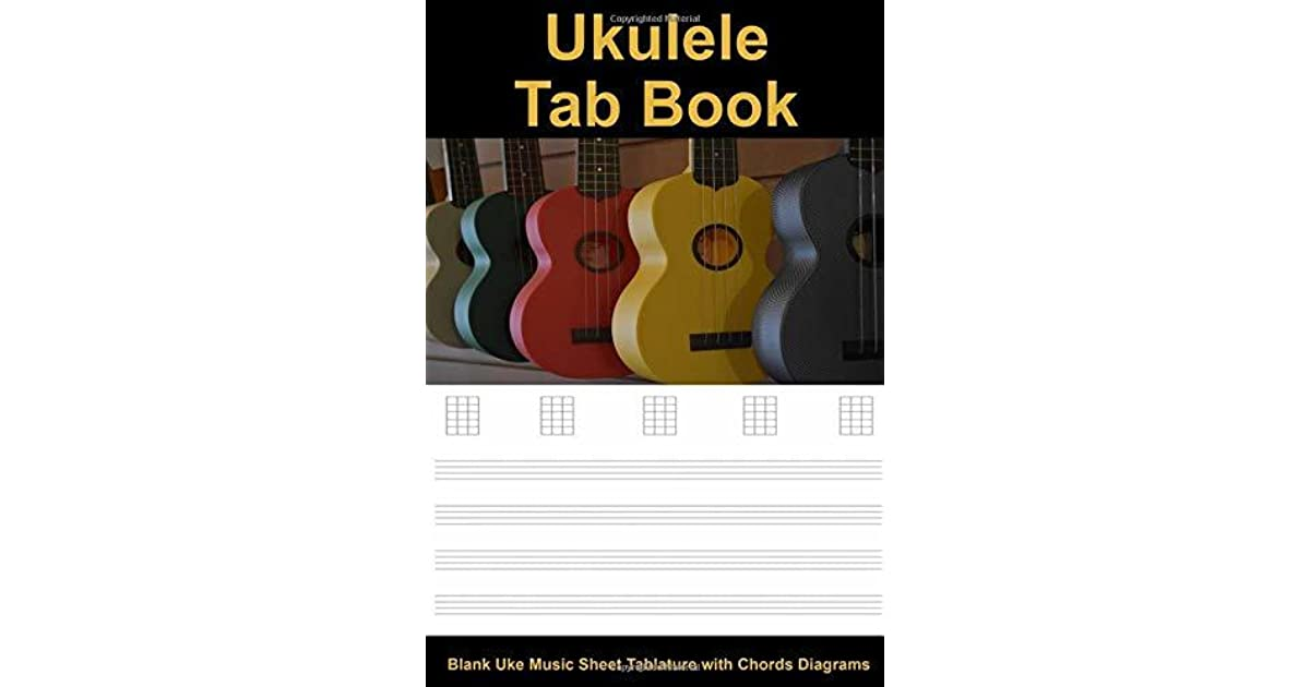 Ukulele Tab Book: Blank Uke Music Sheet Tablature with