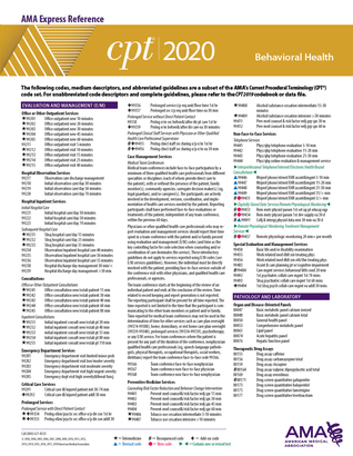 Cpt Modifiers List 2020.Cpt 2020 Express Reference Coding Card Behavioral Health By