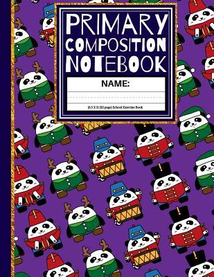Primary Composition Notebook: Marching Band Pandas
