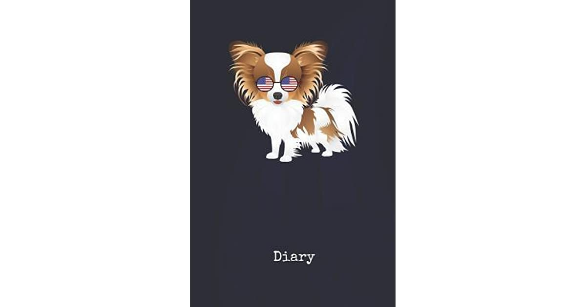 Diary: Papillon Cho Buom Dog U S  Blank Writing Journal Patriotic