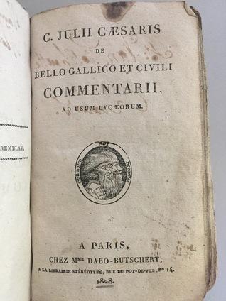 De Bello Gallico Et Civili Commentarii Ad Usum Lycaeorum By