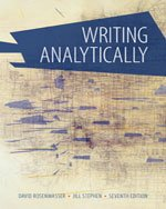 Bundle: Writing Analytically with Readings, 3rd + Enhanced Insite for Handbook 1-semester Printed Access Card, 3rd Rosenwasser/Stephen