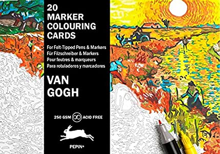 Van Gogh: Marker Colouring Cards Book