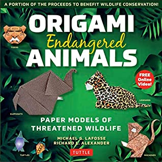 Origami Endangered Animals Ebook: Paper Models of Threatened Wildlife [Includes Instruction Book with Conservation Notes, Printable Origami Paper, FREE Online Video!]