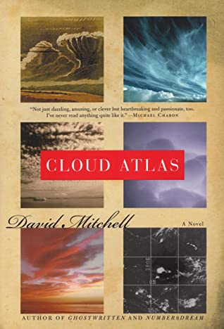 "Book cover of ""Cloud Atlas"" by David Mitchell"