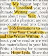 My Unedited Writing Year: 365 Invitations to Free Your Creativity and the Writer Within