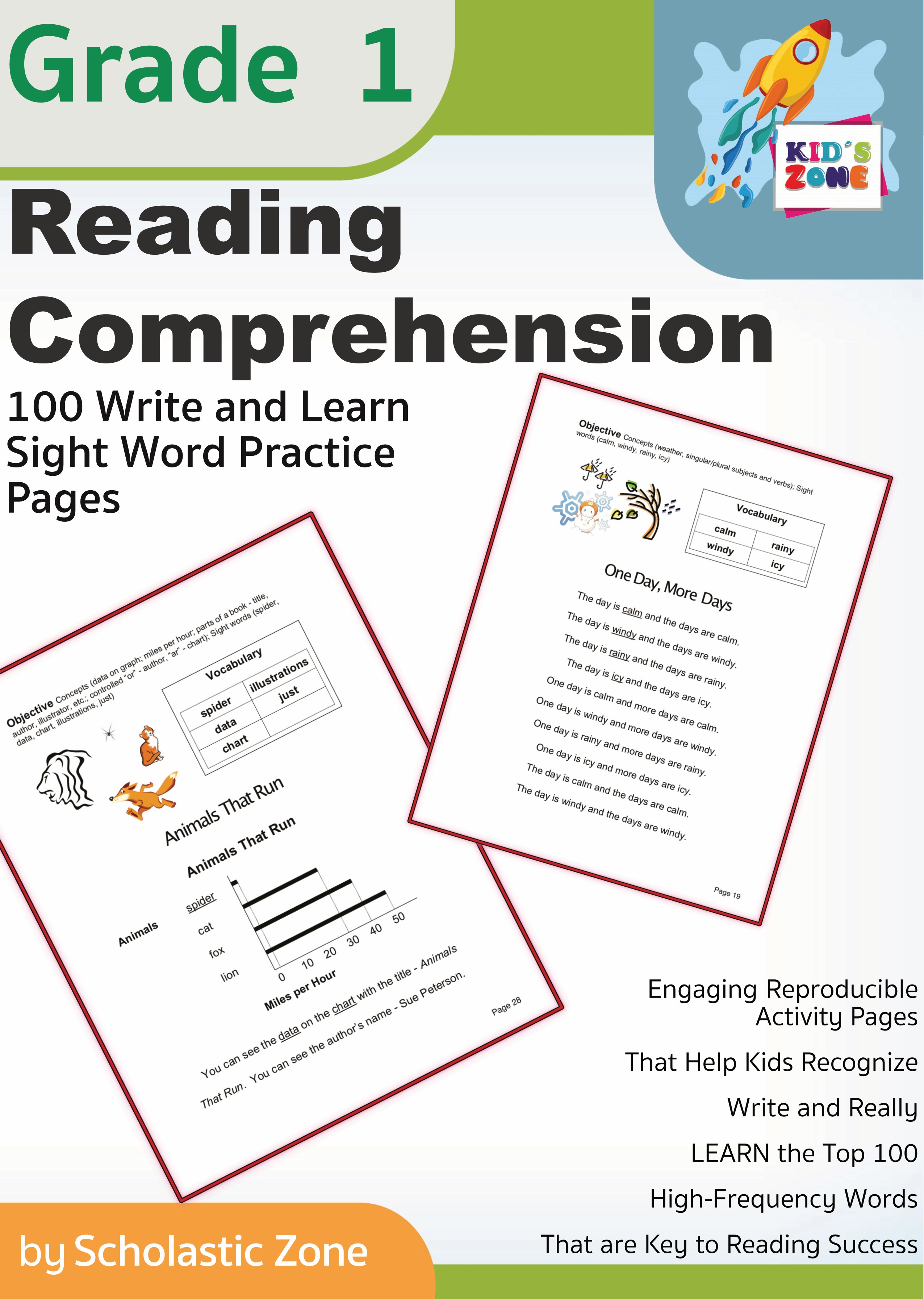 - Reading Comprehension Grade 1 - 100 Write-and-Learn Sight Word