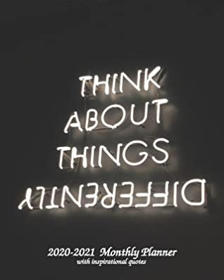 think about things differently monthly planner