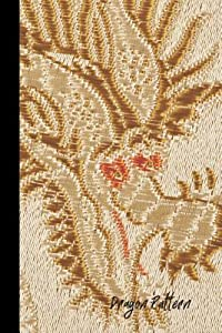 Dragon Pattern: small lined Yellow Dragon Notebook / Travel Journal to write in (6'' x 9'') 120 pages