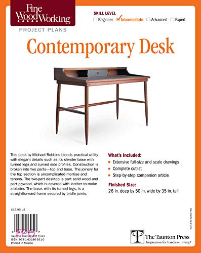 Fine Woodworking S Contemporary Desk Plan By Michael Robbins