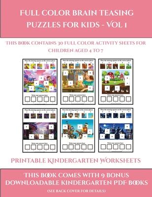 Get Puzzle Worksheets For Kindergarten Pics