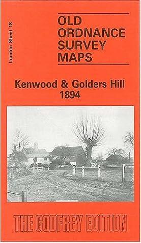 Old Ordnance Survey Maps Beckenham South London 1894  Godfrey Edition New