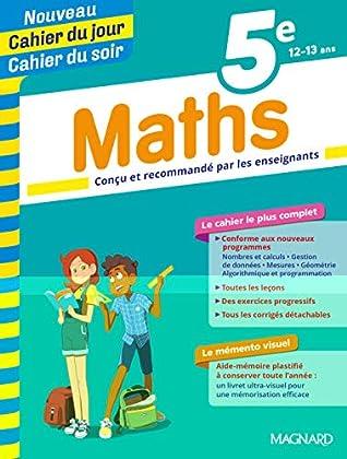 Cahier du jour/Cahier du soir Maths 5e + mémento