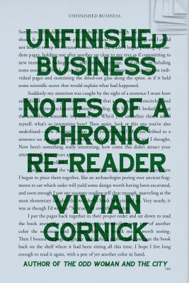Unfinished Business by Vivian Gornick