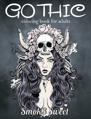 gothic coloring book for adult dia de