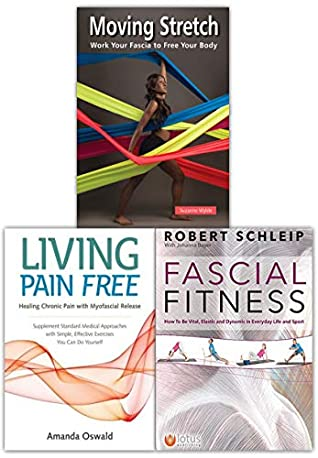 Moving Stretch, Fascial Fitness & Living Pain Free 3 Books Collection Set Pack