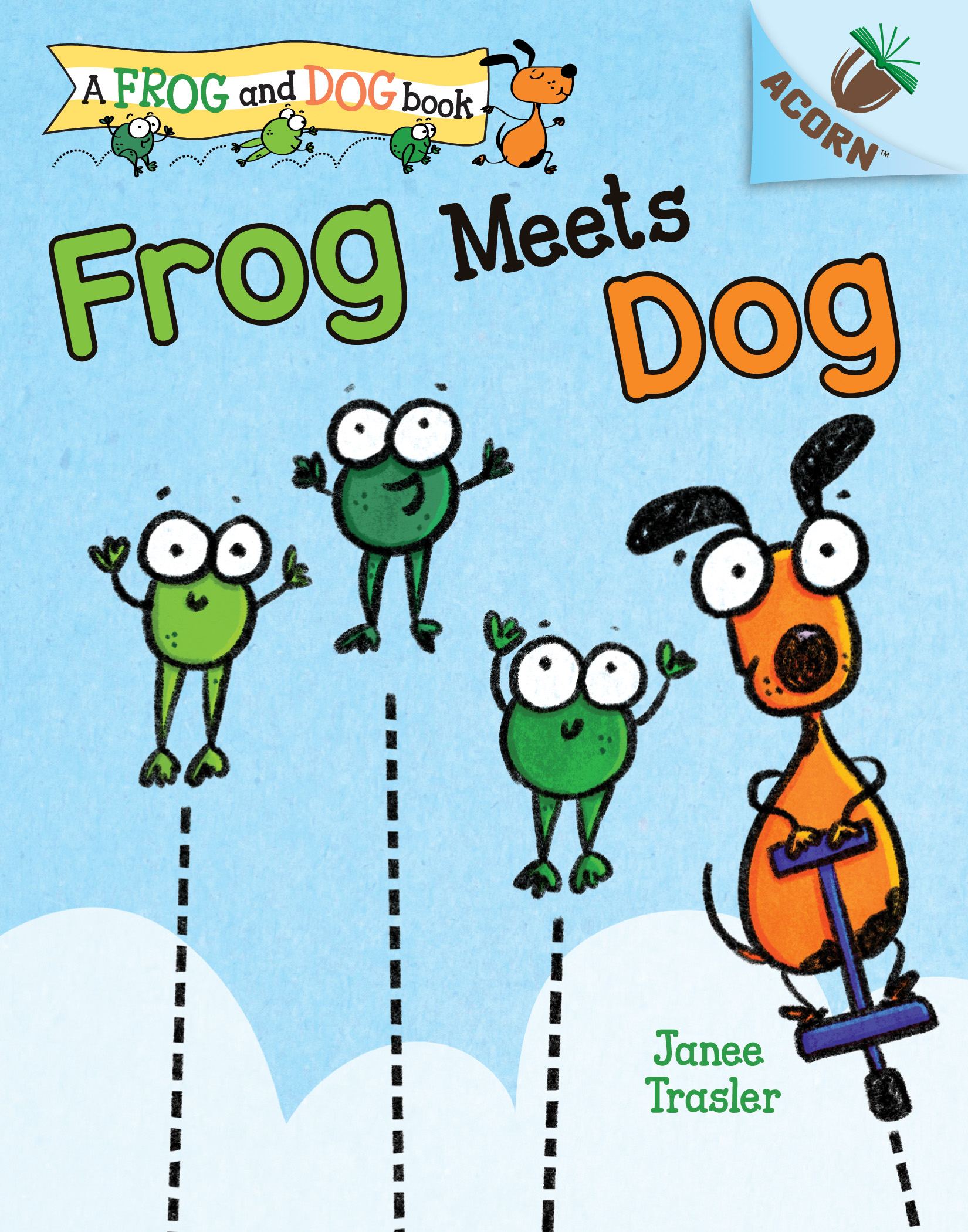 Frog Meets Dog: An Acorn Book by Janee Trasler