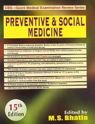 CBS Quick Medical Examination Review Series: Preventive and Social Medicine