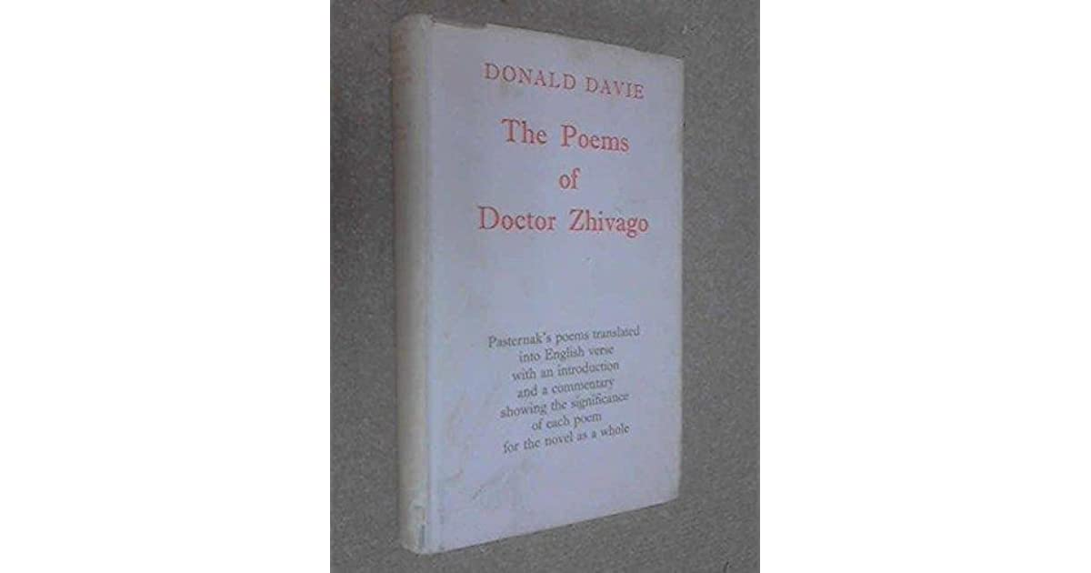 The Poems Of Doctor Zhivago By Boris Pasternak