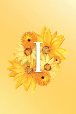 I: Modern, stylish, decorative and simple floral capital letter monogram ruled notebook, pretty, cute and suitable for all: men, women, girls & boys. For personal, office or learning. 100 lined pages 6 x 9 handy size.