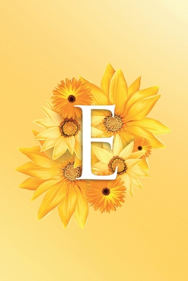 E: Modern, stylish, decorative and simple floral capital letter monogram ruled notebook, pretty, cute and suitable for all: men, women, girls & boys. For personal, office or learning. 100 lined pages 6 x 9 handy size.