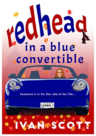 Redhead in a Blue Convertible by Ivan  Scott