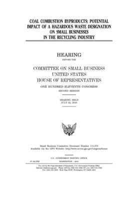 Coal Combustion Byproducts Potential Impact Of A Hazardous Waste Designation On Small Businesses In The Recycling Industry By U S House Of Representatives,Modern Fireplace Design With Tv